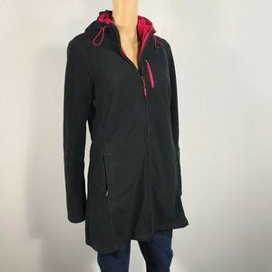 Athleta Embroidered Fleece Long Hoodie sz M